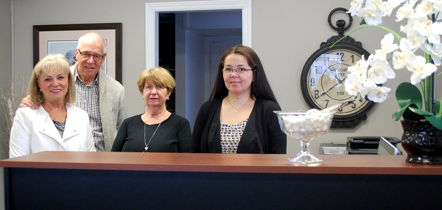 Some of the friendly faces you'll see at Maplebranch Property Management Ltd. (from left) Nina Semper-Ross, Len Ross, Lee-Ann Key and Tammy Poulin