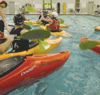 Kayak Polo has quickly become a popular activity at the Canada Summit Centre