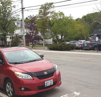 Parking is available a short walk from Huntsville's Main Street