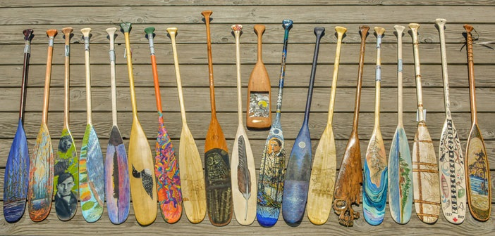 Some of the entries received in the Algonquin Outfitters Paddle Art Contest