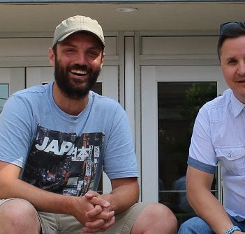 Dan Watson (left), Executive Director at Huntsville Festival of the Arts. and Matt Huddlestone, Manager of the Algonquin Theatre