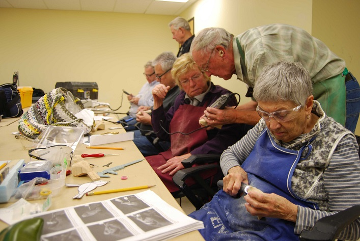 The woodcarving drop-in is a social way to learn about hand carving (Photo: Town of Huntsville)