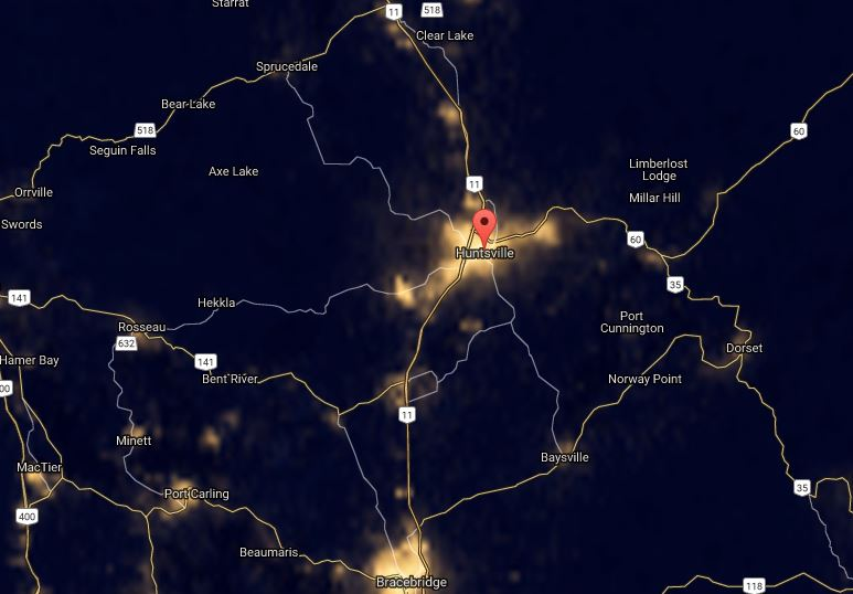 Huntsville light pollution