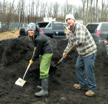 The annual Compost Giveaway is a popular activity during Earth Week