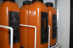 Bottles of Totem Juice