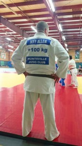 The Huntsville Judo Club has Jeff Allen's back - literally!