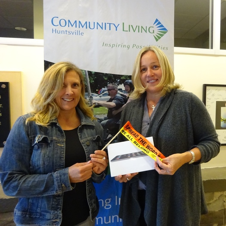 Andrea Johnston, Community Living Huntsville, and Helena Renwick, Huntsville BIA