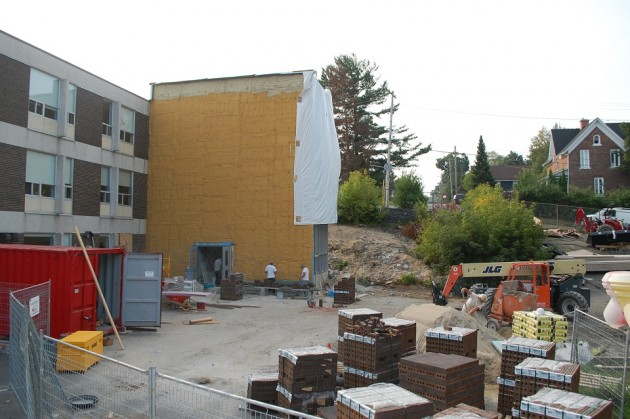 Huntsville Public School addition under construction