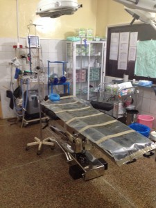 The operating theatre is clean and modern