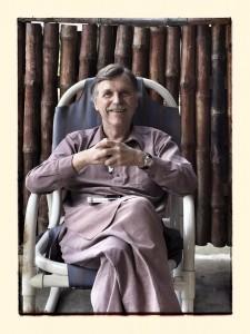Dr, Roy Kirkpatrick in traditional local garb, a shalwar kameez