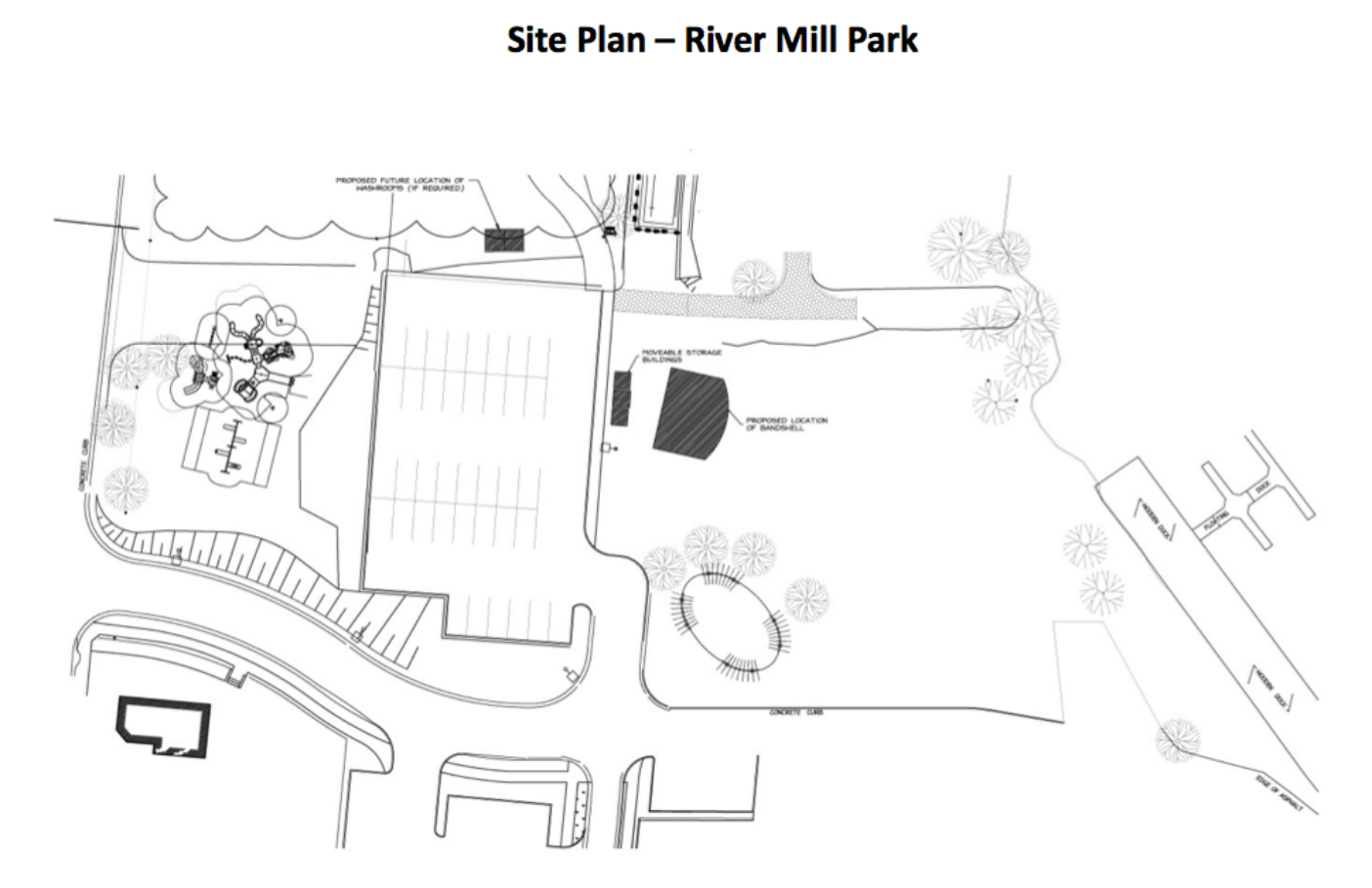 Permanent bandshell for huntsville 39 s river mill park to be for Site plans online