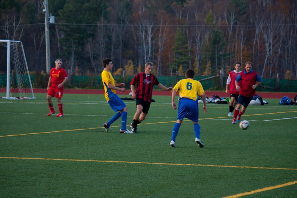 The Hoyas played a friendly against the competitive men's Huntsville Strikers club on Tuesday