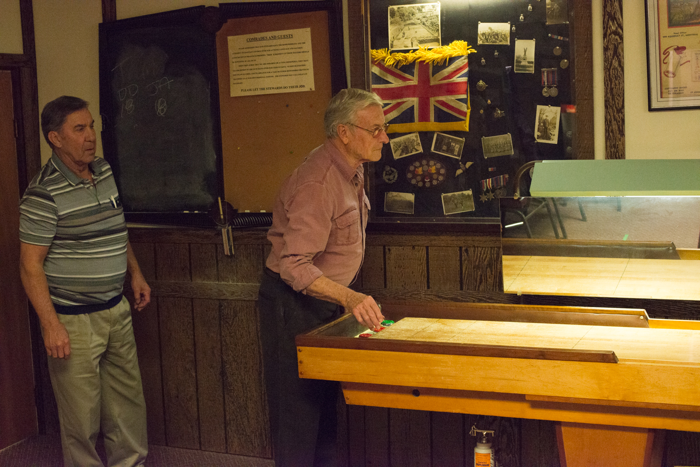 Shuffleboard is an interesting sport in that there are no age or gender divisions. Everyone is welcome and encouraged to play