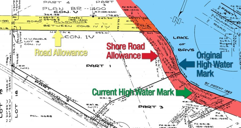 Shore road allowance map