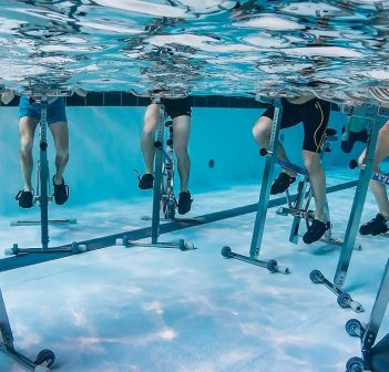 Hydrorider aquabikes have been a popular addition to programming at the Centennial Pool