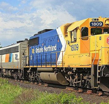 The Ontario Northland train once stopped in Huntsville. A local group is pushing for its return. (Photo: Wayne Shaw/Canadian Railway Observations)