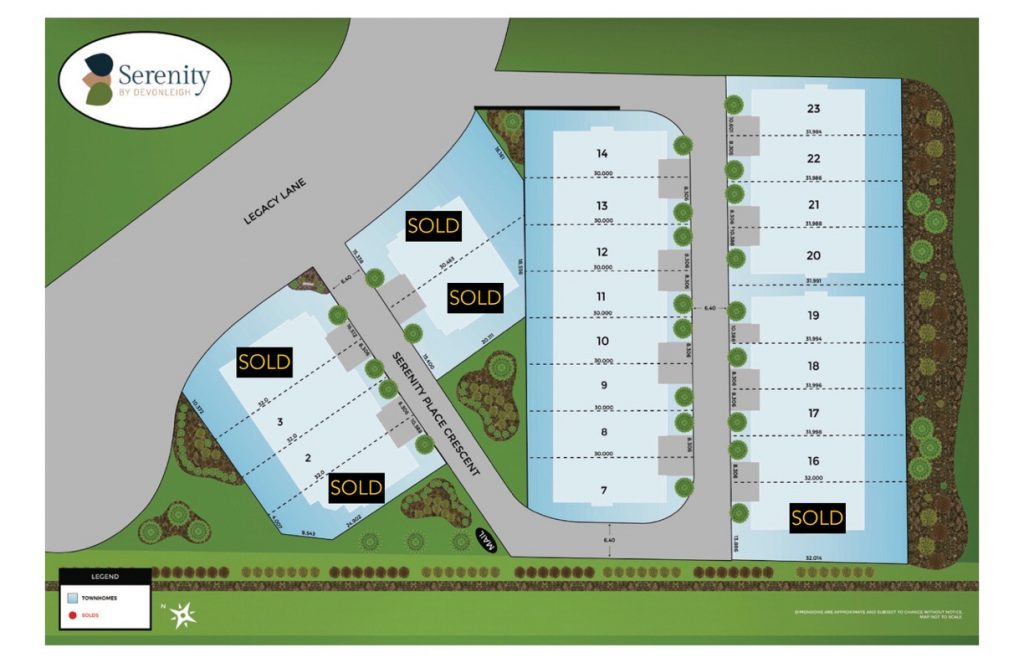 Serenity sold-site-plan