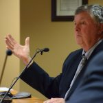 Lake of Bays Mayor Bob Young makes his case for an equal number of votes at the District.