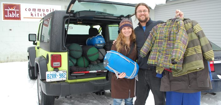 AO sleeping bag donation