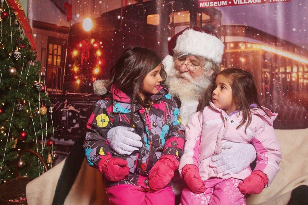 Santa at Portage Flyer Christmas