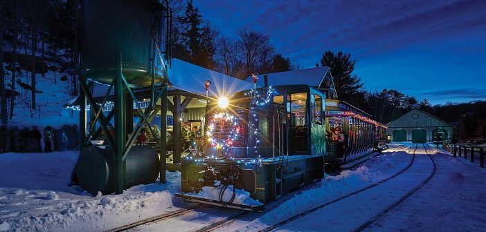 A Portage Flyer Christmas, which carries passengers to visit Santa at the end of the line, is a popular December event