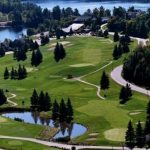 Aerial of The Inn golf course at Grandview