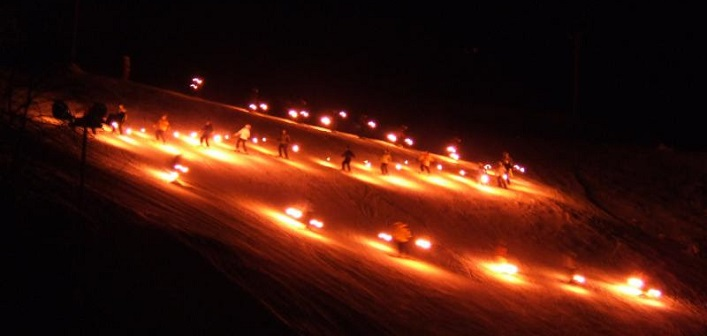 The annual Christmas Eve Torchlight Parade at Hidden Valley Highlands Ski Area is a holiday tradition for many families