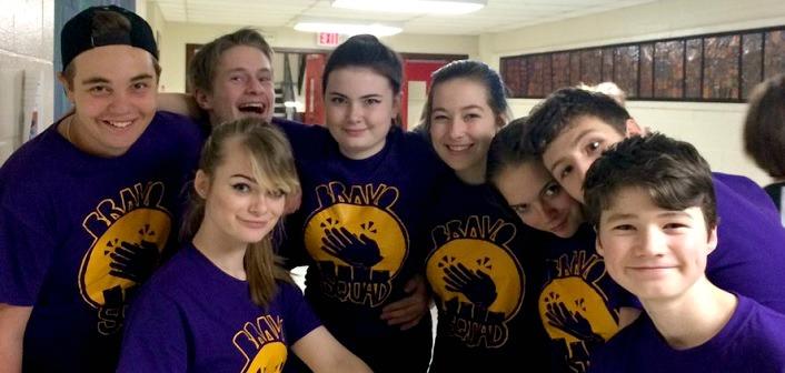 HHS Bravo Squad (Photo via @HuntsvilleHS on Twitter)