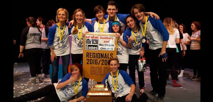 HHS senior improv Team SNO Storm is heading to the Canadian Improv Games Nationals in Ottawa (Photo courtesy of Mirella Lisi)