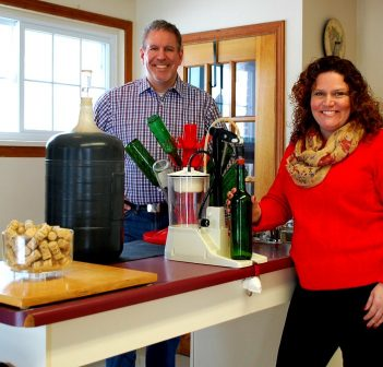 Brent Finn and Jennifer Jerrett are the new owners of Wine Excellence