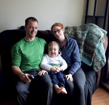 Geoff, Avery and Leslie Aubin