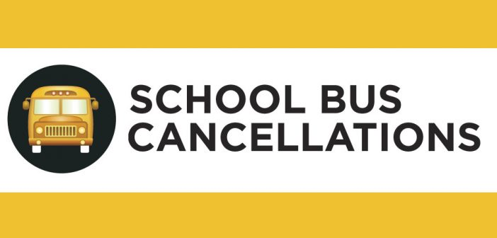 Buses are cancelled for Tuesday February 20, 2018