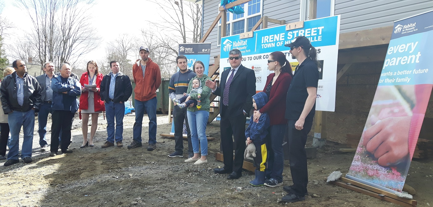 On April 22, Habitat for Humanity Gateway North turned over the keys to the families who will live in the new Irene Street build