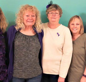 Siblings (from left) Linda Wallace, Joan McDonald, Susan Norman, Faye McDonald, and Tom McDonald appreciated the support of Hospice Huntsville