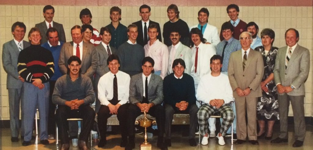 1987 Taylor Floor Coverings Junior B lacrosse team