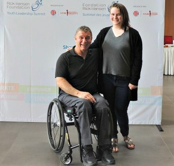 Rick Hansen and Olivia Luttrell (Photo: Laurie Luttrell)