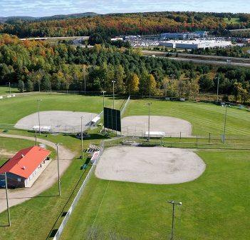 The baseball diamonds at McCulley-Roberston Recreation Park (Photo: Town of Huntsville)