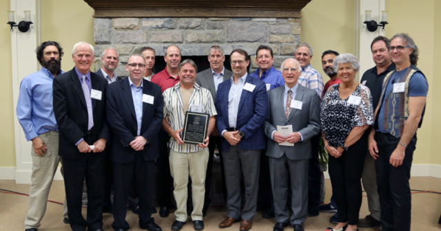 Huntsville's Sports Hall of Fame induction ceremony was like a reunion for the 1987 Taylor Floor Coverings Junior B Hawks lacrosse team.