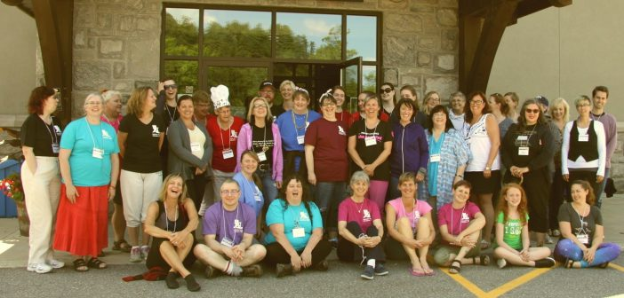 Writers and volunteers at the 2017 Muskoka Novel Marathon (supplied photo)