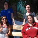 Two buddy benches, the brainchild of local mom Brittany Robbins, will be helping kids at Spruce Glen and V.K. Greer