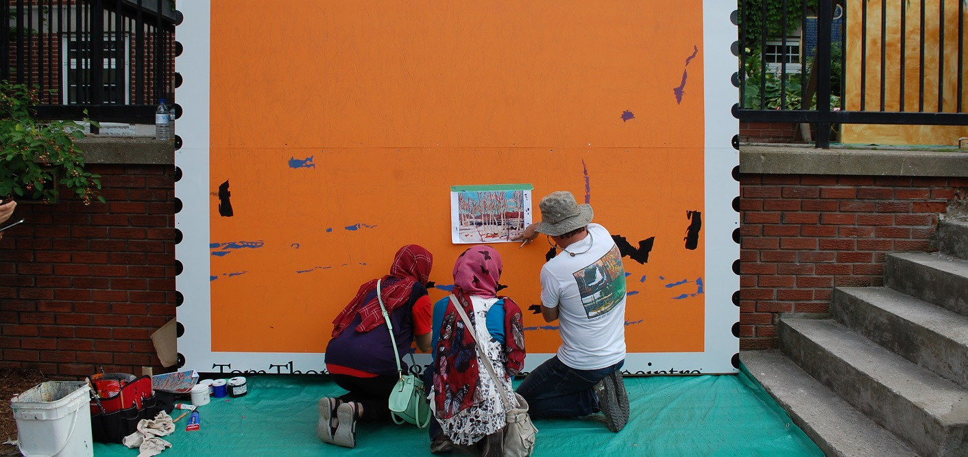Add your mark to huntsville 39 s newest community mural for Community mural