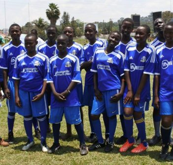 Check out those local jerseys a group of Ugandan kids are sporting!
