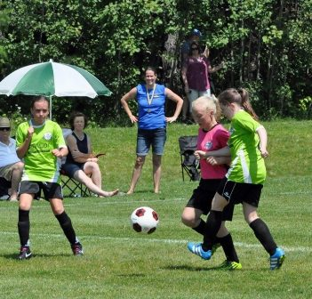 The Huntsville Soccer Club U12 Girls at Soccer Day 2017