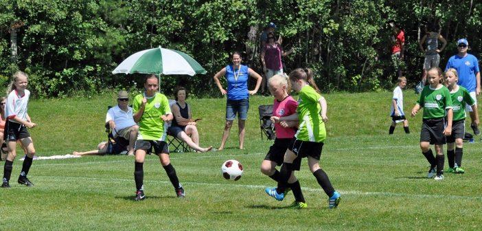 The Huntsville Soccer Club U12 Girls at Soccer Day 2017