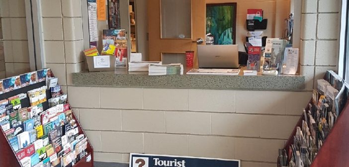 The HLOBCC offers tourism information next to the Algonquin Theatre's main doors