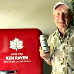 Ken Raven with his customized Molson beer fridge (Photo: Sandy Raven)