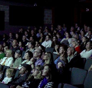 The audience at CineMuskoka's opening night screening of To the Orcas With Love (Photo: CineMuskoka)