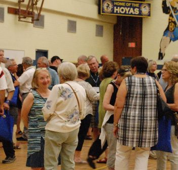 The meet and greet for The Great Huntsville High School Reunion was well-attended by alumni across the decades