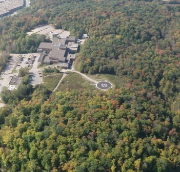 An aerial view of Huntsville District Memorial Hospital (Photo: Brian Tapley)