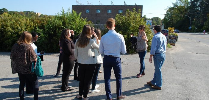 Ryerson Master of Planning students took a tour of the Brendale Square area